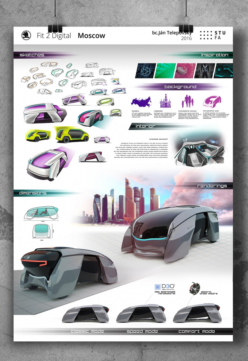 Fit 2 Digital – Futuristic Family Car Concept