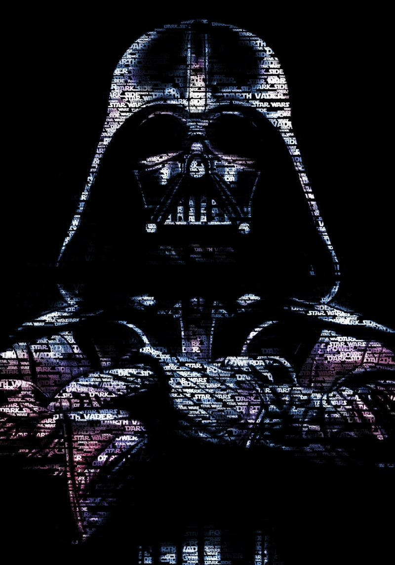 Darth Vader typography art