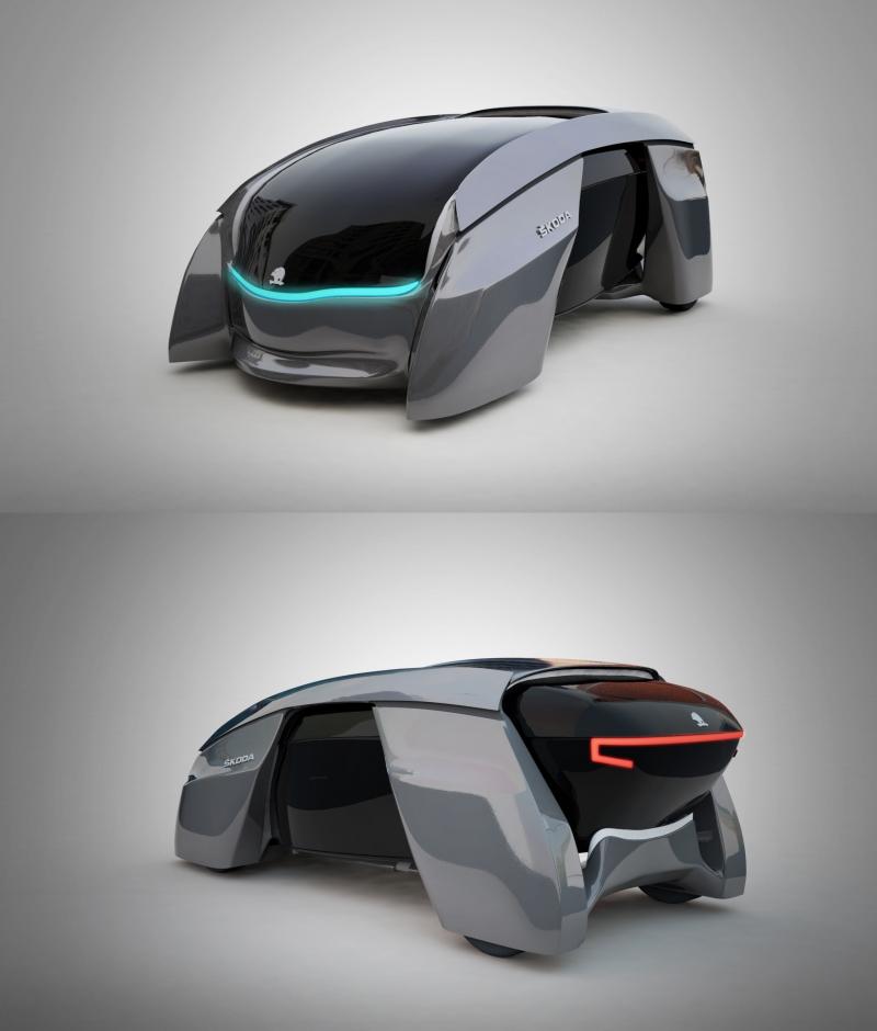 Futuristický prototyp rodinného auta – Škoda