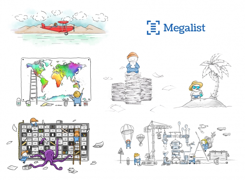 Megalist illustrations