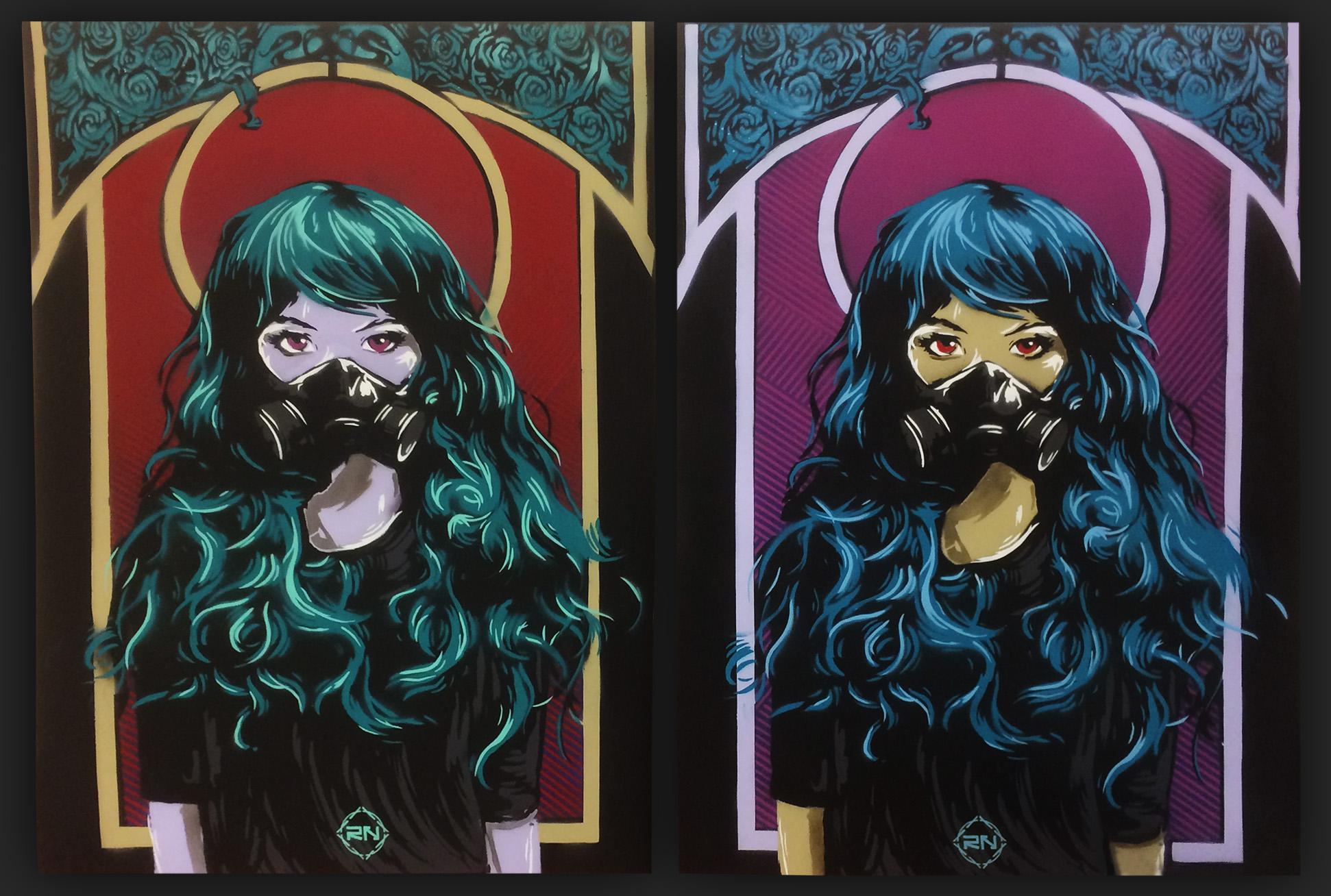 Stencil art – Graffiti ladies