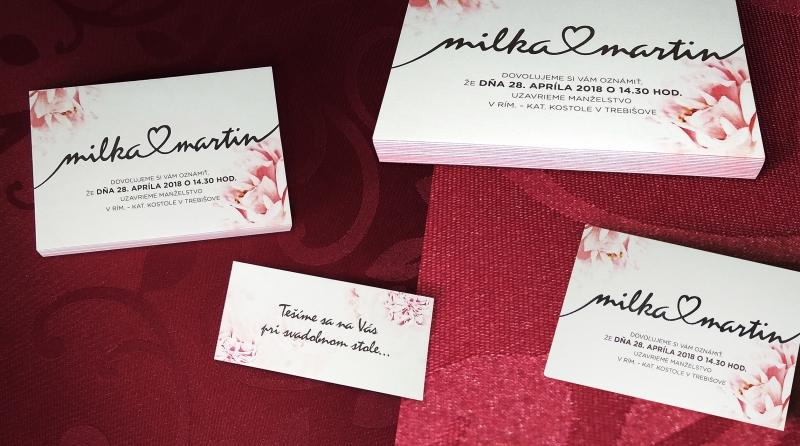 M+M svadobné oznámenia
