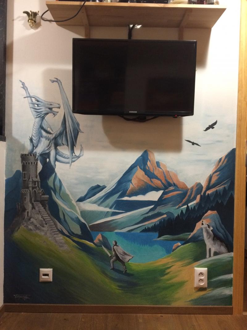 Fantasy wall painting